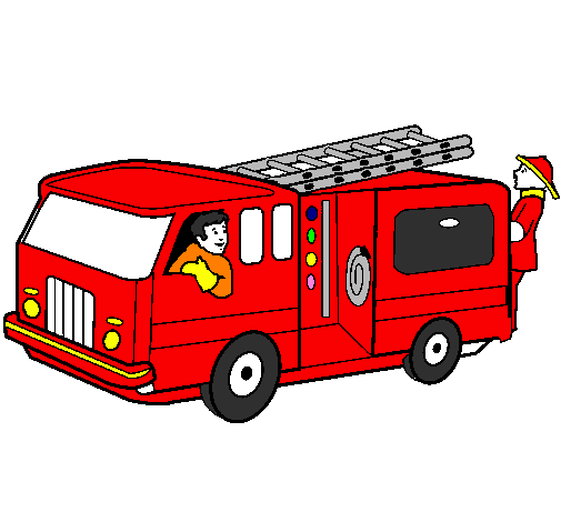 Dessin De Pompiers Dans Le Camion Colorie Par Membre Non Inscrit