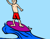 Coloriage Surf colorié par XPHR