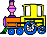 Coloriage Train colorié par marina
