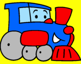 Coloriage Train colorié par william