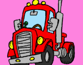 Coloriage Tracteur colorié par william