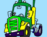 Coloriage Tracteur colorié par THOMAS D