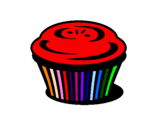 Coloriage Muffin colorié par BANANASS