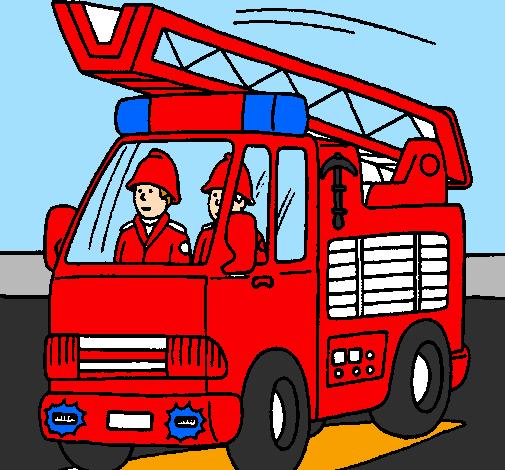 Dessin De Voiture De Pompiers Colorie Par Membre Non Inscrit Le 04