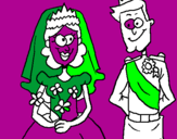Coloriage Mariage royal colorié par Hubert le caribou