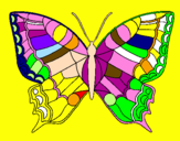 Coloriage Papillon  colorié par alicia beaudin