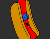 Coloriage Hot dog colorié par justin