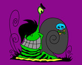 Coloriage Escargot Emo colorié par positas