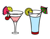 Coloriage Deux cocktails colorié par mar42