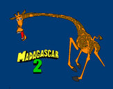 Coloriage Madagascar 2 Melman 2 colorié par mandy