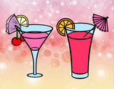 Coloriage Deux cocktails colorié par Mary