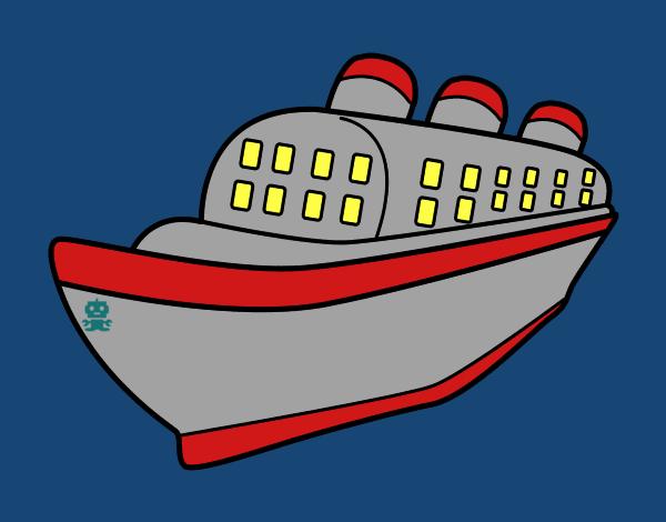 Dessin de Navire paquebot colorie par Membre non inscrit ...