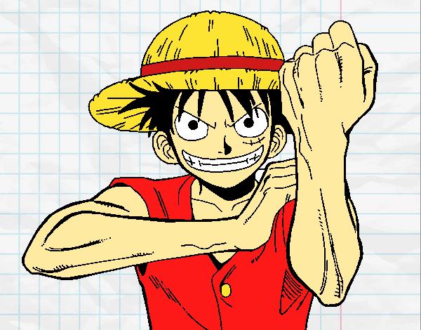 Dessin de Monkey D. Luffy colorie par Nami le 18 de Août de 2016 à Coloritou.com