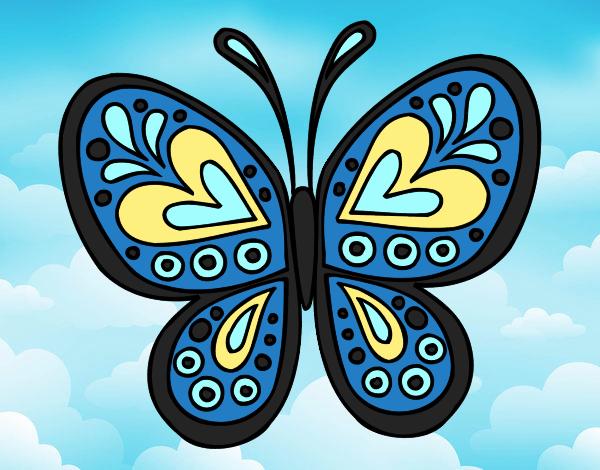 Dessin de Mandala papillon colorie par Membre non inscrit ...