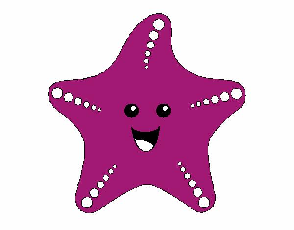 Dessin de Étoile de mer colorie par Membre non inscrit le ...