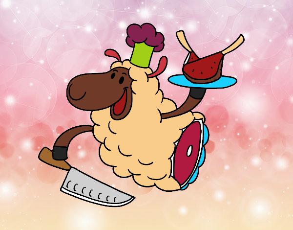 Dessin de Viande d'agneau colorie par Membre non inscrit ...