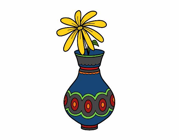 Dessin De Une Fleur Dans Un Vase Colorie Par Membre Non Inscrit Le