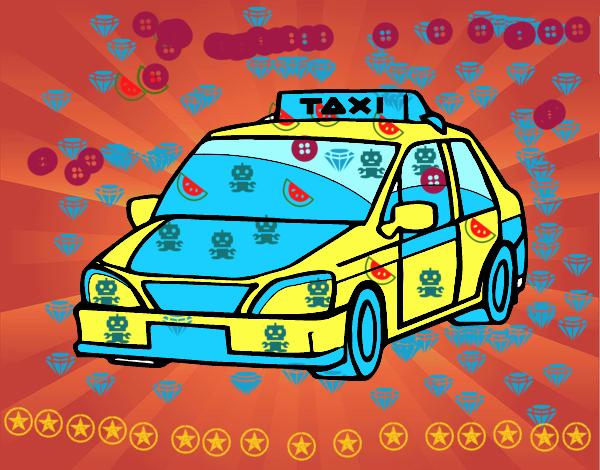 Dessin de Un taxi colorie par Membre non inscrit le 11 de ...