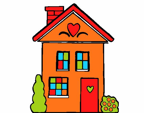 Dessin De Maison Avec Des Coeurs Colorie Par Membre Non Inscrit Le 29 De Aout De 2018 A Coloritou Com