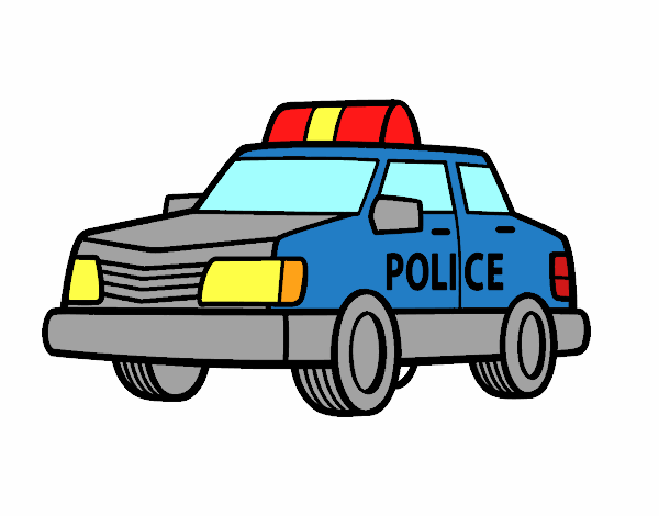 Dessin de Une voiture de police colorie par Membre non ...