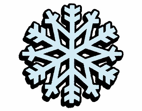 Dessin de Flocon de neige colorie par Membre non inscrit ...