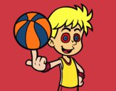 Un basketteur junior