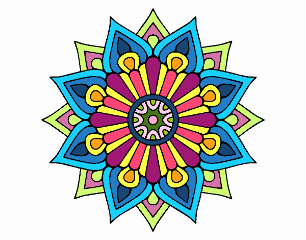 Un mandala flash floral