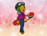 Snowboard fille