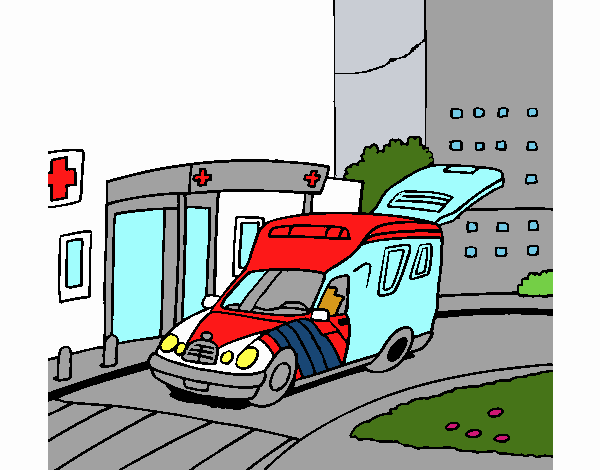 Ambulance à l'hôpital